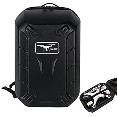 HMF 18608-02 Backpack Hard Shell, suitable DJI Phantom 2 and 3 Standart, Professional, Addvanced Drone, Carrying Case, 42 x 39 x 28 cm