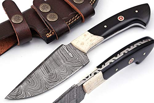 Grace Knives Handmade Hunting Knife Fixed Blade Camping Knife 9 Inch with Leather Sheath G-1084 BH