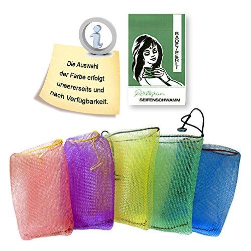 5 Stück Perligran Seifenbeutel Bade-Perli Seifenschwamm Seifennetz Badenetz Körperpflege Badeperli
