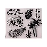 You are My Sunshine Palme Motivstempel/Stempel für Fotoalbum, transparent, Gummi, transparent