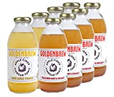 Goldenbrew Tea Organic Apple Cider Vinegar Tonic Variety Pack, 4 Lemon and 4 Wildflower, 8 Bottles