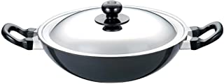 Futura Non-Stick Deep-Fry Pan(Kadhai) 2-1/2-Litre with Steel Lid and Round Bottom