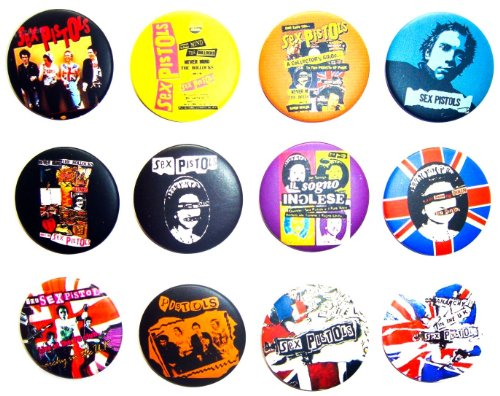 SEX PISTOLS (2) Awesome Quality Lot 12 New Pins Pinback Buttons Badge 1.25 Inch