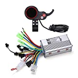Motor Brushless Controller, 36V 48V 350W Electric Scooter Mountain Bike Speed Controller with LCD Display Panel