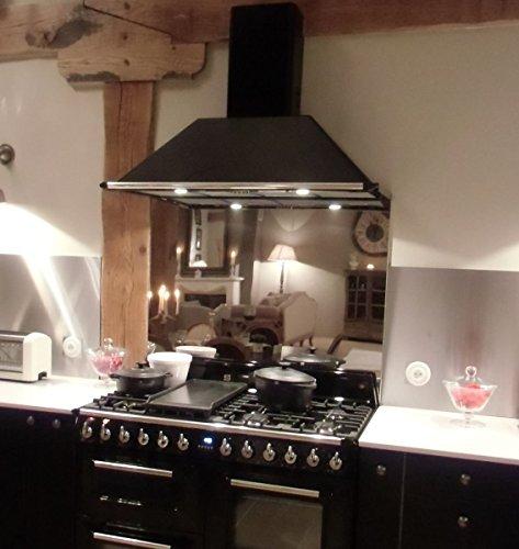 Credence roestvrij stalen – bakplaat – L 65 x H 70 cm (D = 17 mm) roestvrij stalen spiegel