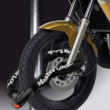 MASTER LOCK Chaîne Antivol Moto [Clé] [2 m chaîne] 8292EURDPS - Idéal pour les Motos et Scooters