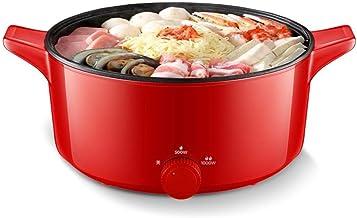 Hot pot électrique multifonction cuisinière électrique hot pot électrique antiadhésif wok électrique 5L