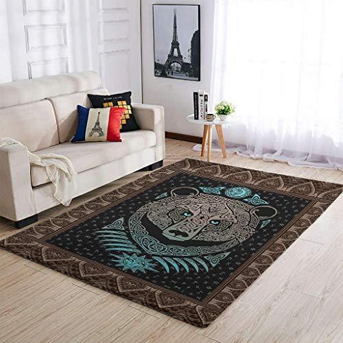 Huffle-Pickffle Alfombra Vi-King Be-AR antideslizante, acabado fino, alfombra para puerta de casa, color blanco, 122 x 183 cm