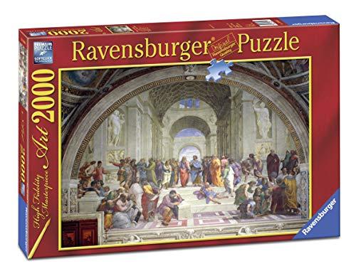 Ravensburger Puzzle 2000 Pezzi, Raffaello: Scuola di Atene, Collezione Arte, Jigsaw Puzzle per Adulti, Puzzles Ravensburger - Stampa di Alta Qualità, Dimensione Puzzle: 98x75cm