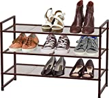 Simple Houseware 3-Tier Stackable Shoes Rack Storage Organizer Shelf, Bronze