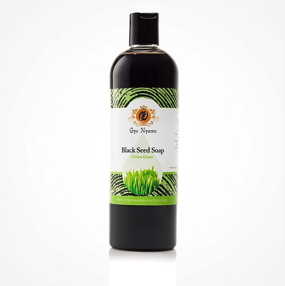 Gye Nyame Black Seed Liquid Soap Green Grass