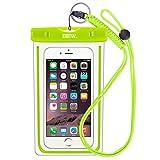 EOTW IPX8 Handyhülle Wasserdicht, Handy Wasserschutzhülle Kompatibel mit iPhone XR/6 Plus/SE, Huawei P10/P9, Samsung Galaxy S10/A7 2018, Strandtasche für Handys bis zu 6,5 Zoll, Grün
