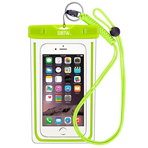Wasserdichte Handyhülle IPX8 Tasche - EOTW Wasserdichte Handy hülle kompatibel für iPhone 12/11 Pro Max Samsung S21/S20/A51/A71 Huawei P40/P30 Segeln Zubehör Smartphone Umhängetasche Universal Unterwasser Umhängetasche (Grün)