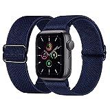 Supore Apple Watch Correas Compatible con Apple Watch 44mm 42mm 38mm 40mm, Pulseras de Repuesto de Nylon Correa para iWatch Series 6 5 4 3 2 1 / Apple Watch SE, Mujer y Hombre -42mm/44mm-Azul Marino