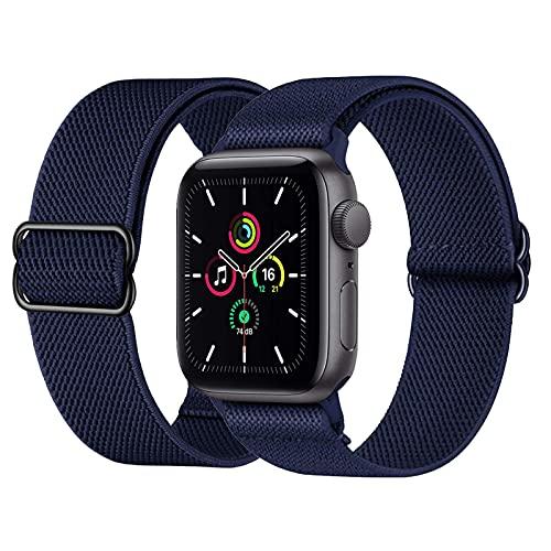 Supore Solo Loop iWatch Cinturino in Nylon Comapatibile con Apple Watch 38mm 40mm 42mm 44mm, Cinturino di Ricambio Lo Sport in Elastico in Tessuto di Nylon per Apple Watch SE  iWatch 6 5 4 3 2 1