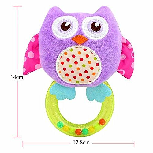 vanker 4 Style Etui jouets en bois de Animal peluche de jouet pour bébé Hibou violet