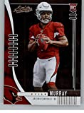 cardinals football cards - 2019 Absolute Football #126 Kyler Murray RC Rookie Card Arizona Cardinals Official NFL Trading Card From Panini America