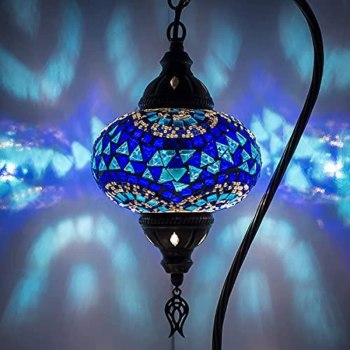 (5 variaciones) lámpara turca, lámpara de mesa de mosaico hecha a mano, pantalla de lámpara, lámpara de mesilla de noche de mosaico marroquí turco, lámpara de mosaico multicolor bohemio estilo Tiffany