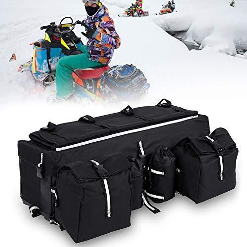 Cocoarm ATV Gepäcktasche ATV Gepäckträger Tasche Satteltasche Softtasche mit 2 Abnehmbare Aufbewahrungsbeutel 2 Abnehmbare Wasserflaschenhalter