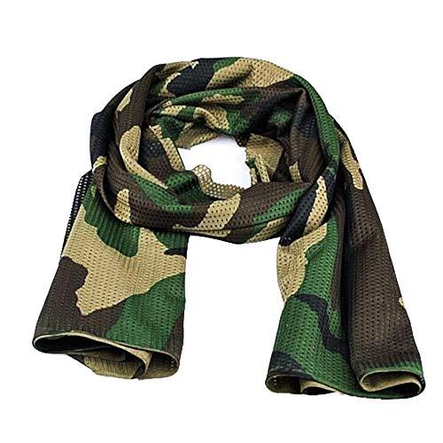 Heren sjaal - camouflage man - geperforeerd - militaire pashmina - 1 55 x 45 cm - tactische sjaal - origineel geschenkidee - donkergroen