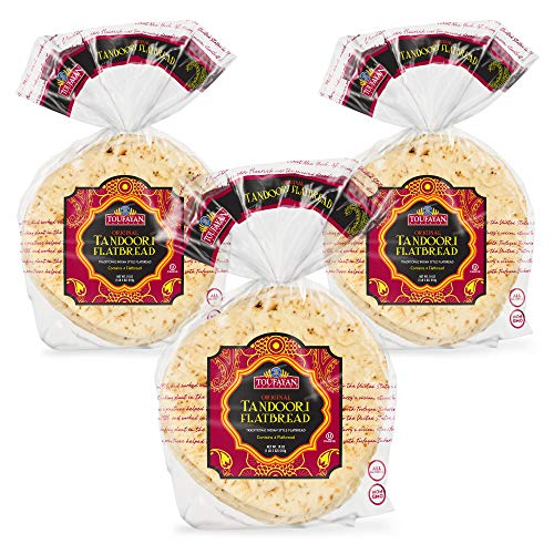 Toufayan Bakery, Original Tandoori Indian Flatbread, All Natural, Non-GMO (18oz Bag, 3 Pack)