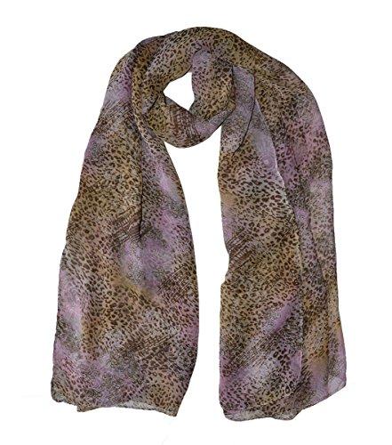 Wigwam Accessories Écharpe en mousseline de soie Motif léopard