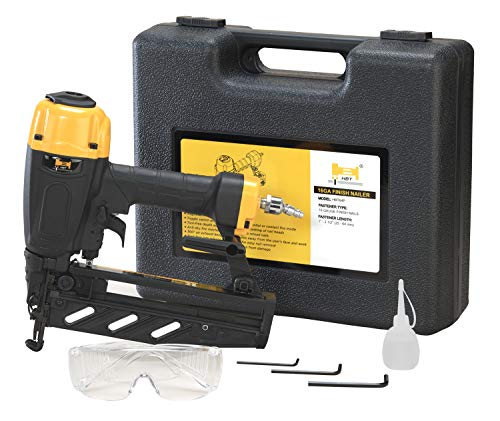 HBT HBT64P 16 Gauge Finish Nailer with Magnesium Housing, Straight Finish Nail Gun with Carrying Case, for 1-Inch up to 2-1/2-Inch Finish Nails