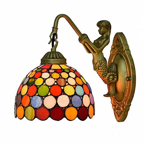 Tiffany wandlamp, handgemaakte glas in lood wandlamp decor gang hotel slaapkamer woonkamer TNH-074