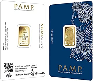 Swiss Pamp 24K (999.9) 5.0 Gram Gold Bar