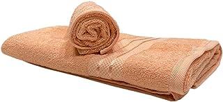 Bath and Hand Towel Set of 2 - Peach - 100% Cotton - BYFT Daffodil