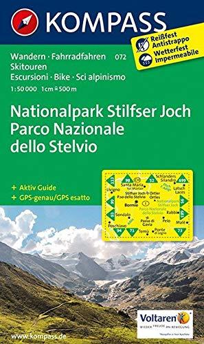 KOMPASS Wanderkarte Nationalpark Stilfserjoch /Parco Nazionale dello Stelvio: Wanderkarte mit Aktiv Guide, Radrouten und Skitouren. GPS-genau. Dt. /Ital. 1:50000