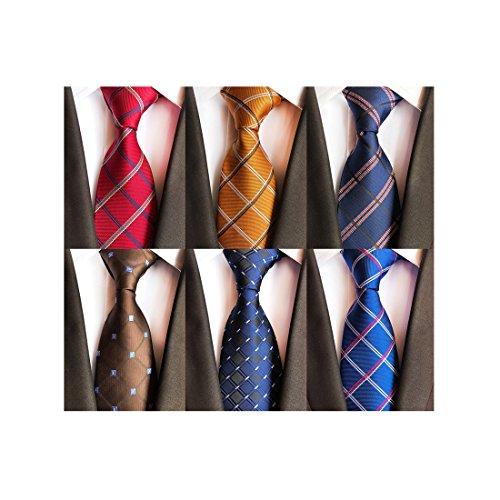 LOLONG Seidenkrawatten für Herren, handgenähte Krawatte Seide in Verschiedenen Farben - 8 cm Herrenkrawatte