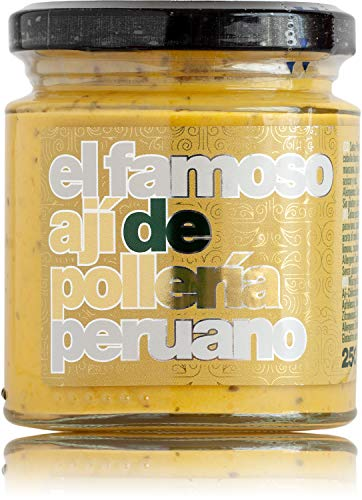 Ají amarillo con huacatay | Ají de Pollería 250 ml | 100% natural | Sin aditivos ni conservantes | Sin gluten | Apto para veganos | La Sarita