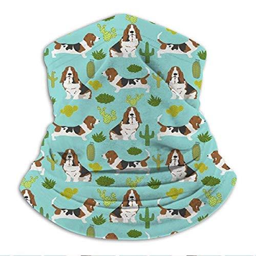 zhouyongz Bashound Mint Cactus Sweet Pet Dog Verano Tropical Diseño de moda unisex para hombre y mujer súper suave cuello abrigador sombrero para esquí y senderismo