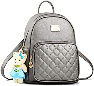 OIJN PU + poliéster, mochila casual de moda señora bolso bolso de la escuela de oso