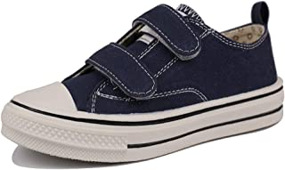 MUYGUAY Toddler Sneakers Boys and Girls Low Top Canvas Shoes with Adjustable Strap Lightweight Casual Shoes for Baby/Toddler/Little Kid
