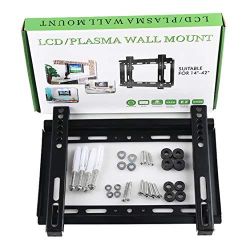 DDyna Rack Universal para TV LCD de 32-70 Pulgadas 26-55 Pulgadas 1.2 Grueso GD02 14-42 Pulgadas GD01 Soporte de Pantalla para TV LCD montado en la Pared - Negro - 14-42'