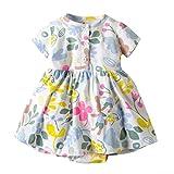 TWIFER_été_Toddler Kid Baby Girl Short Sleeve Floral Dress Princess Romper Dresses Clothes_1 2 3 4 5 6 7 28 Ans Les magasins Ont