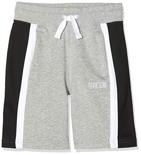 Nike Jungen B NK AIR Sport Shorts, dk Grey Heather/Black/White, XS