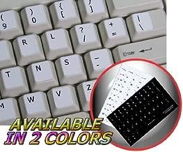 4Keyboard Dvorak Simplified Non-Transparent Keyboard Sticker ON White Background
