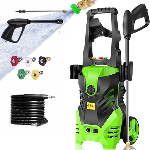 Pressure Washer, Power Washer with 2950 PSI, 1800W High Pressure Washer, 1.7 GPM Professional Washer Cleaner, with 5 Nozzles, Soap Bottle and Hose, Best for Cleaning Cars,Driveways,Patios