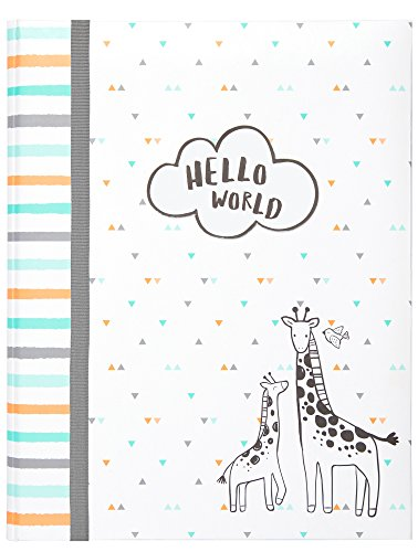 """Carter's Hello World Animal Themed Bound Baby Memory Book, 64 Pages, 9"""" W x 11.125"""" H"""