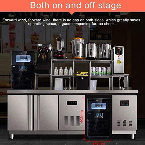 51I6kv mkYL - HIZLJJ Eiswürfelmaschinen, Kommerzielle Eismaschine, 88LBS / 24h freistehende bewegliche Edelstahl-EIS-Hersteller-Maschine unter Gegen Eismaschine for Restaurants Bars