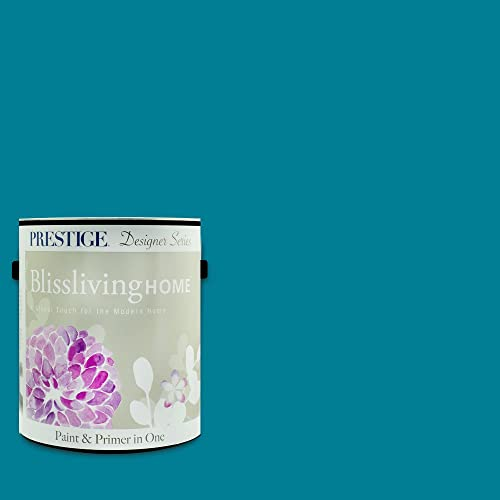 Blissliving Home, Ashley Citron Collection, Interior Paint and Primer In One, 1-Gallon, Semi-Gloss, Parisian Teal