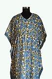 iinfinize Indisches Baumwoll-Kaftan-Nachthemd, Amazon-Baumwolle, Kaftan-Kleider, Kimono für Kimono, Mädchen, Kimono, Kleid mit V-Ausschnitt