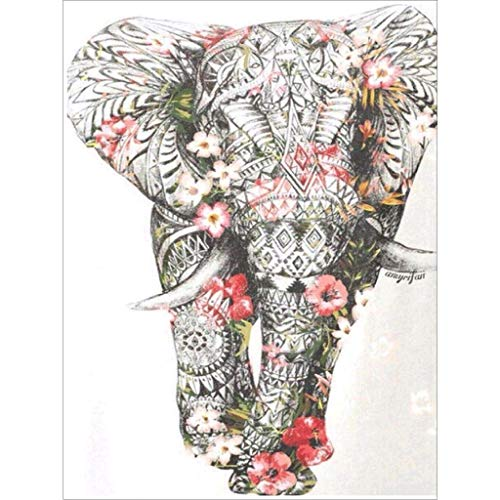 DIY pintura al oleo por numeros Flor elefante,5d diamond painting,pintura para cristal pintura por número cuadros punto de cruz diamante manualidades decoración de la pared para el hogar 30x40cm