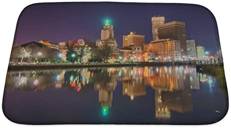 Gear New Bath Rug Mat No Slip Skid Microfiber Soft Plush Absorbent Memory Foam Providence Rhode Island From The Far Side Of The Waterfront 24x17 Home Kitchen