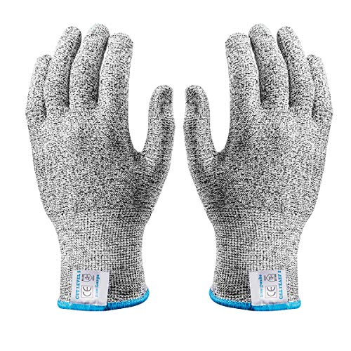 1 par de guantes resistentes a los cortes de grado alimenticio nivel 5 de protección de seguridad guantes de corte para carne de corte de madera tallado