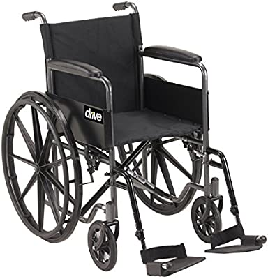 Silver Sport 1 Wheelchair with Full Arms and Swingaway Removable Footrest