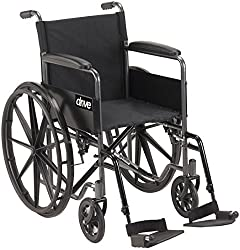 Best Narrow Width Self Propelled Wheelchairs #1 - Drive Medical Silver Sport 1 Wheelchair